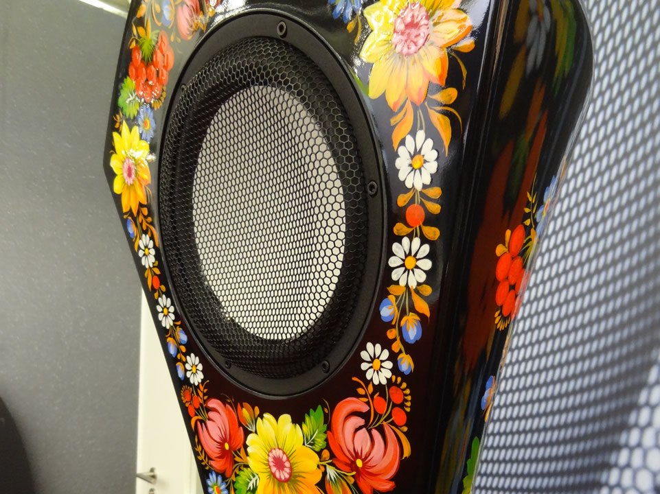 Closeup of the Volya Bouquet loudspeaker.