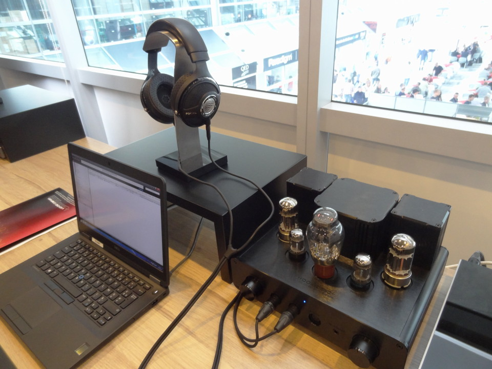 Focal Utopia headphone driven by the Woo Audio WA22 headphone amplifier.