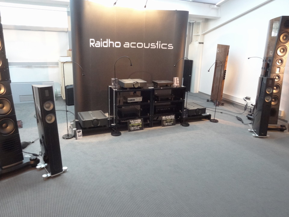 Raidho and Scansonic loudspeakers.